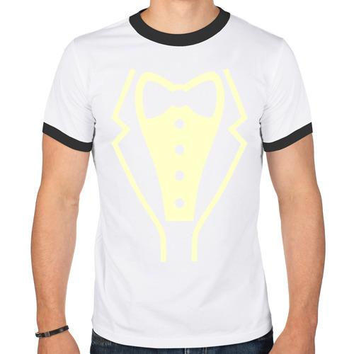 Мужская футболка рингер  Фото 01, Класический смокинг glow