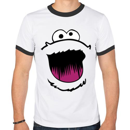 Мужская футболка рингер  Фото 01, Мой милый монстр смайл