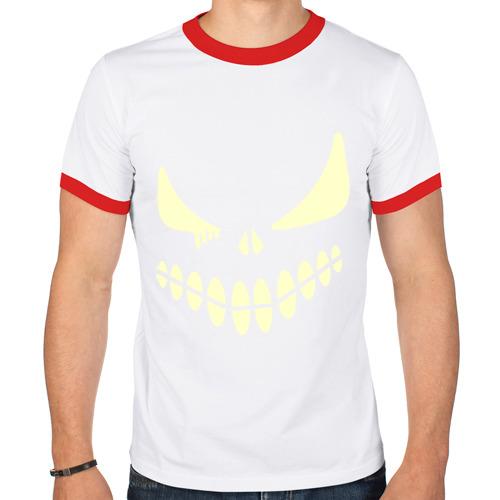 Мужская футболка рингер  Фото 01, Хэллоуин смайл