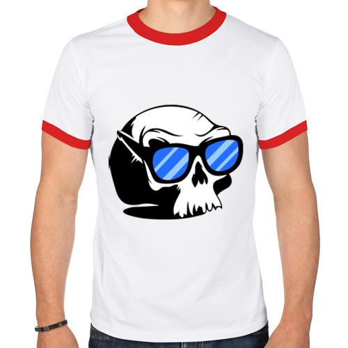 Мужская футболка рингер  Фото 01, Череп в очках