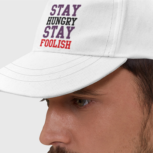 Бейсболка Stay hungry stay foolish