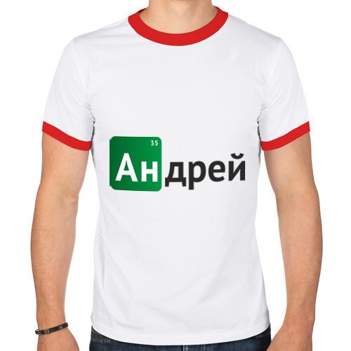 Мужская футболка рингер  Фото 01, Андрей