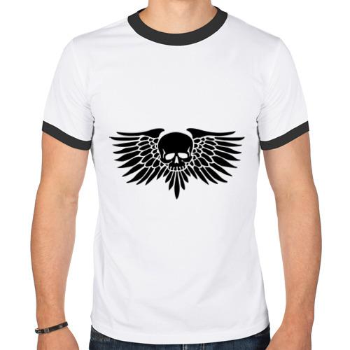 Мужская футболка рингер  Фото 01, Череп с крыльями