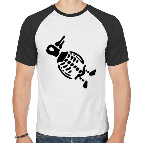 Мужская футболка реглан  Фото 01, Скелет пингвина