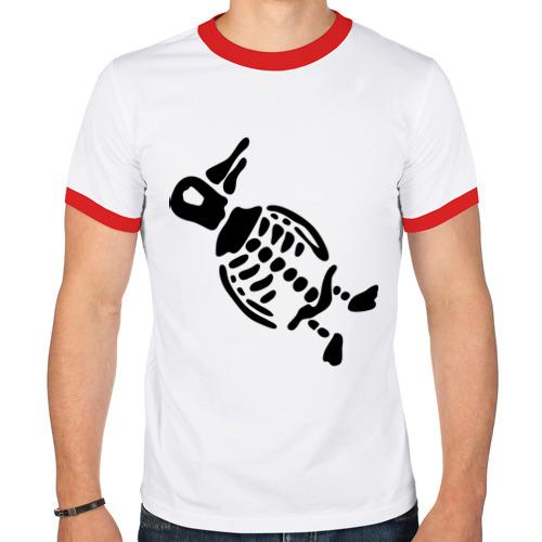 Мужская футболка рингер  Фото 01, Скелет пингвина