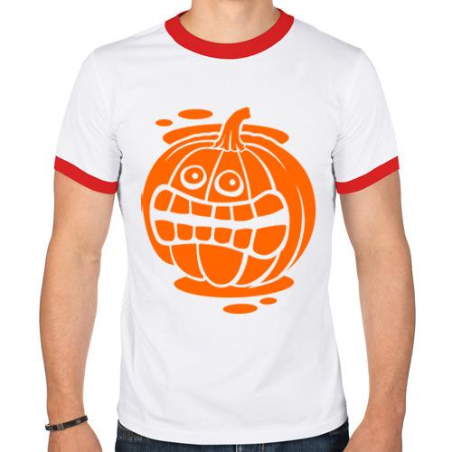 Мужская футболка рингер  Фото 01, Испуганная тыква