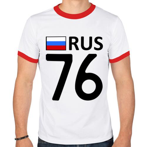Мужская футболка рингер  Фото 01, Ярославская область (76)