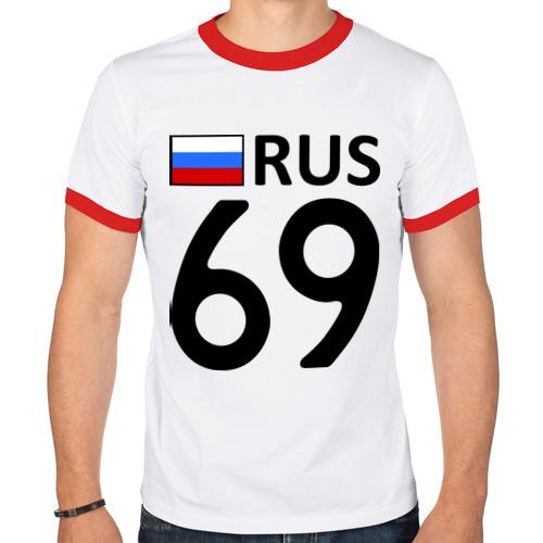 Мужская футболка рингер  Фото 01, Тверская область (69)