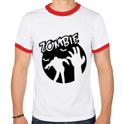 Мужская футболка рингер  Фото 01, Zombie (Зомби)