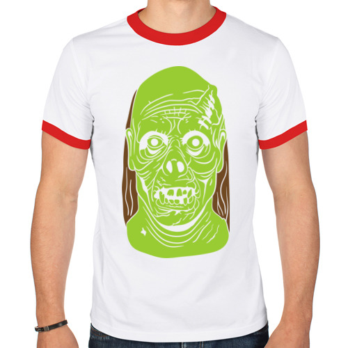 Мужская футболка рингер  Фото 01, Монстр