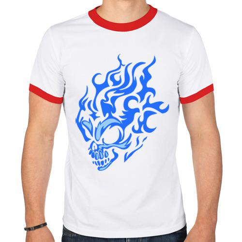 Мужская футболка рингер  Фото 01, Дымовой череп