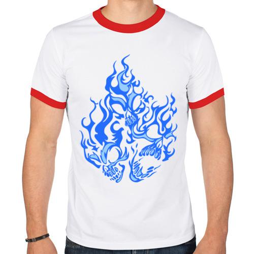 Мужская футболка рингер  Фото 01, Дым