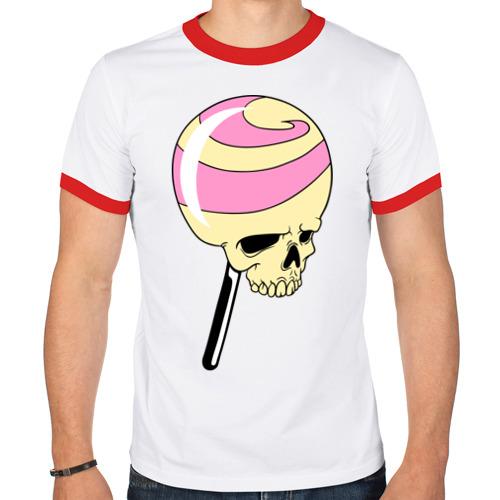 Мужская футболка рингер  Фото 01, Черепок на палочке