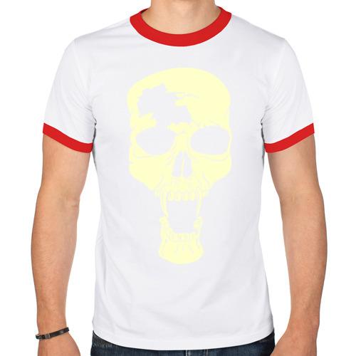 Мужская футболка рингер  Фото 01, Череп с клыками