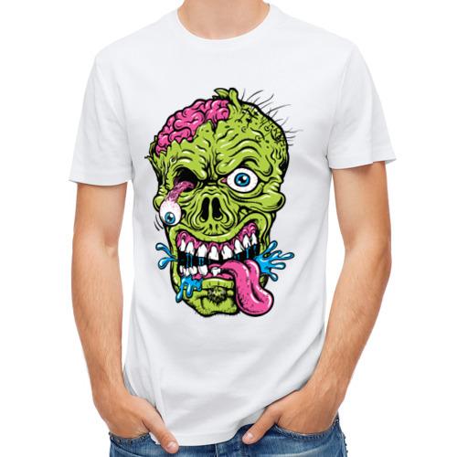 Мужская футболка полусинтетическая  Фото 01, Scary mask
