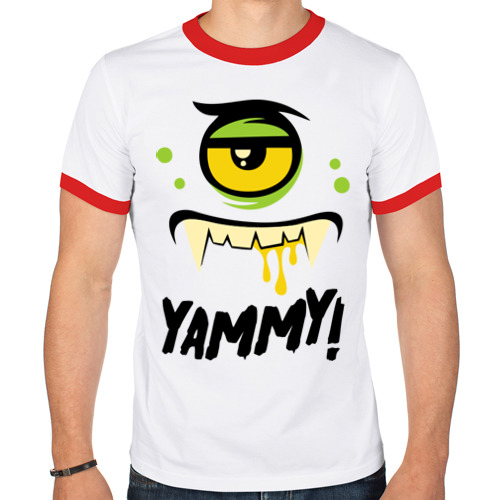 Мужская футболка рингер  Фото 01, Yammy!