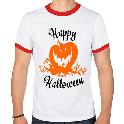 Мужская футболка рингер  Фото 01, Happy halloween