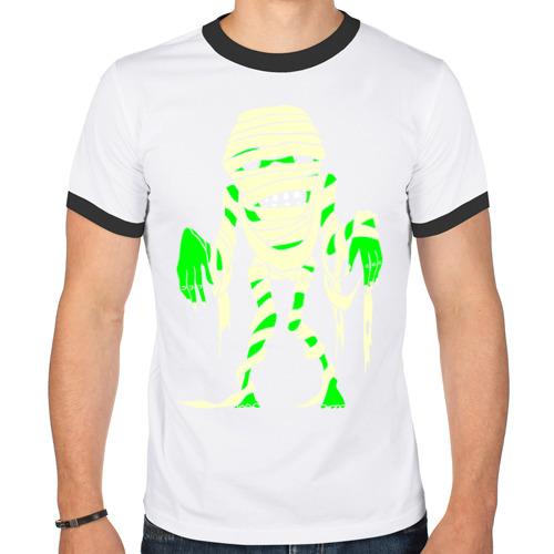 Мужская футболка рингер  Фото 01, Зомби