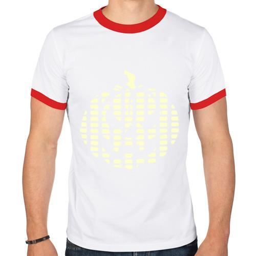 Мужская футболка рингер  Фото 01, Тыква эквалайзер