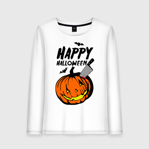 Женский лонгслив хлопок  Фото 01, Happy halloween