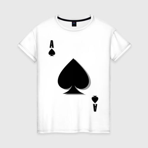 Женская футболка хлопок Пиковый туз Фото 01