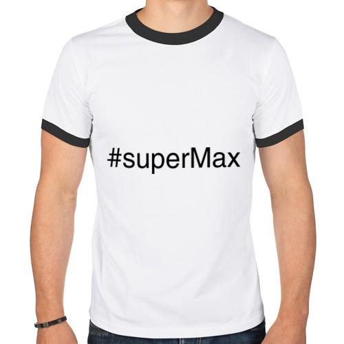 Мужская футболка рингер  Фото 01, #superMax