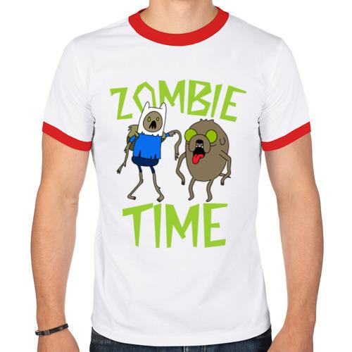 Мужская футболка рингер  Фото 01, Zombie time