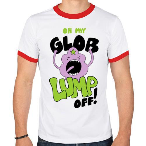Мужская футболка рингер  Фото 01, Oh my glob