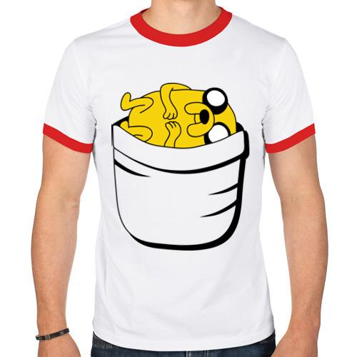 Мужская футболка рингер  Фото 01, Джейк в кармане