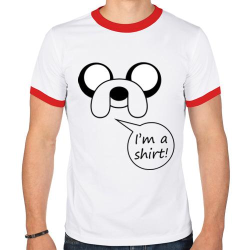 Мужская футболка рингер  Фото 01, I'm a shirt