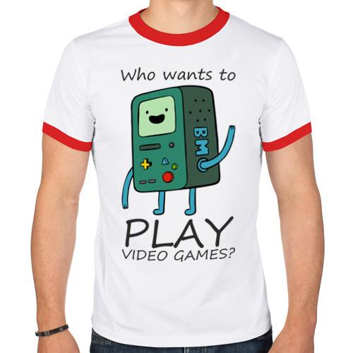 Мужская футболка рингер  Фото 01, Бимо
