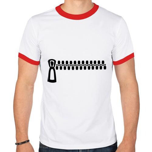 Мужская футболка рингер  Фото 01, Молния - карман