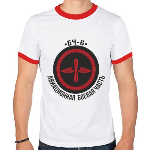 Мужская футболка рингер  Фото 01, БЧ-6