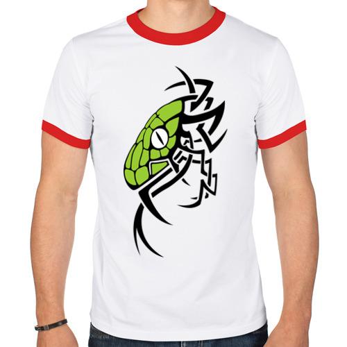 Мужская футболка рингер  Фото 01, Змея тату