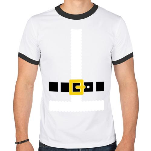 Мужская футболка рингер  Фото 01, Костюм деда мороза