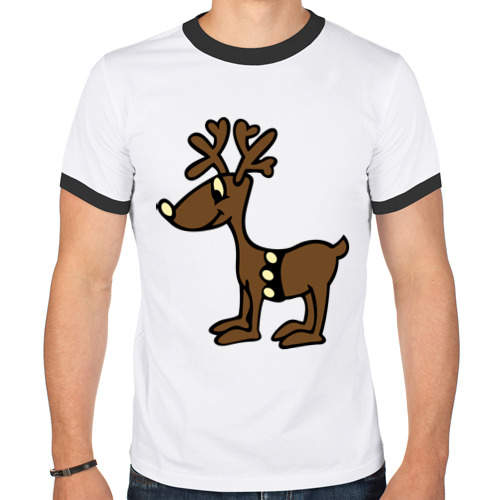 Мужская футболка рингер Олень от Всемайки