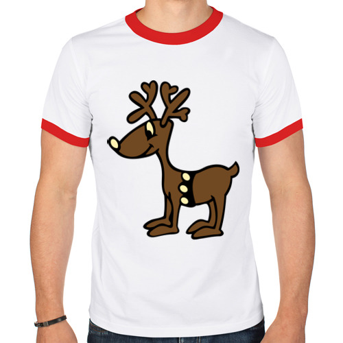 Мужская футболка рингер  Фото 01, Олень
