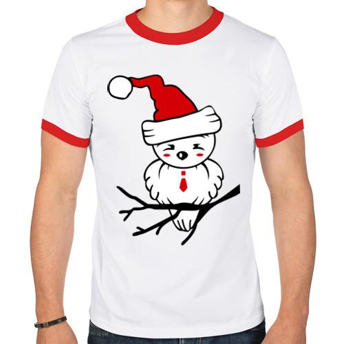 Мужская футболка рингер  Фото 01, Птичка