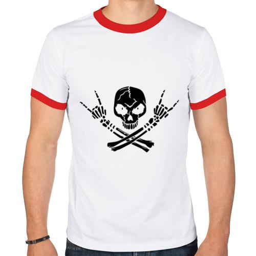 Мужская футболка рингер  Фото 01, Хардкор