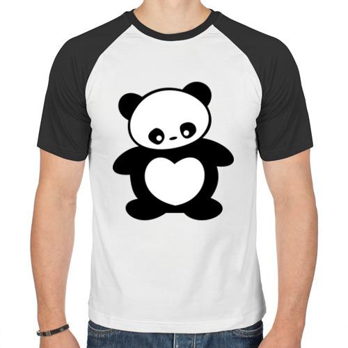Мужская футболка реглан  Фото 01, Мишка с сердцем