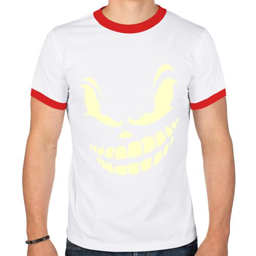 Мужская футболка рингер  Фото 01, Angry smile