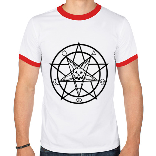 Мужская футболка рингер  Фото 01, Halloween star