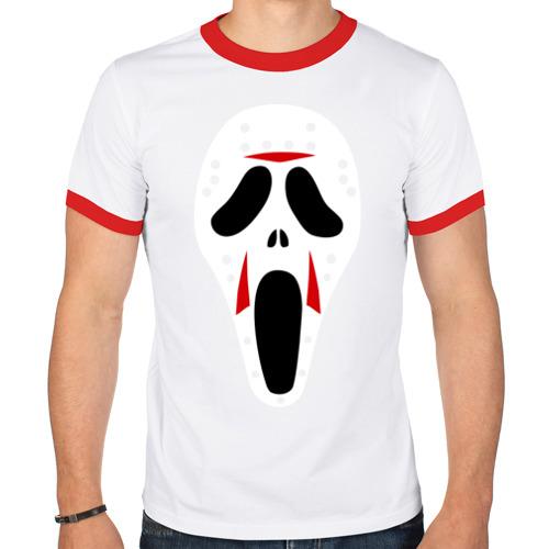 Мужская футболка рингер  Фото 01, Крик
