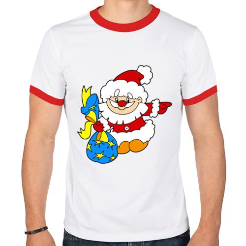 Мужская футболка рингер  Фото 01, Дед Мороз (2)