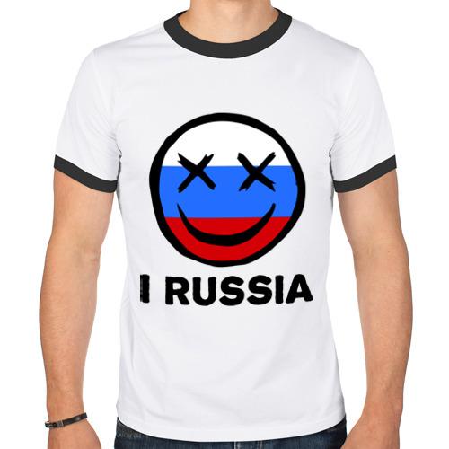 Мужская футболка рингер  Фото 01, I russia