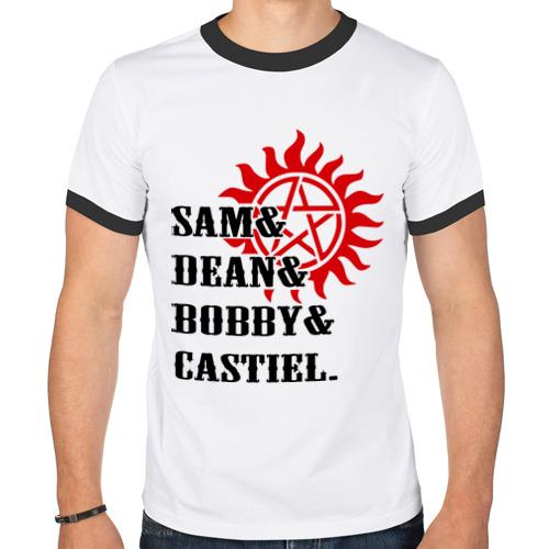 Мужская футболка рингер  Фото 01, Supernatural Команда Мечты