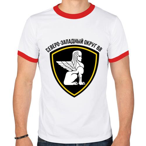 Мужская футболка рингер  Фото 01, ВВ северо-западный округ