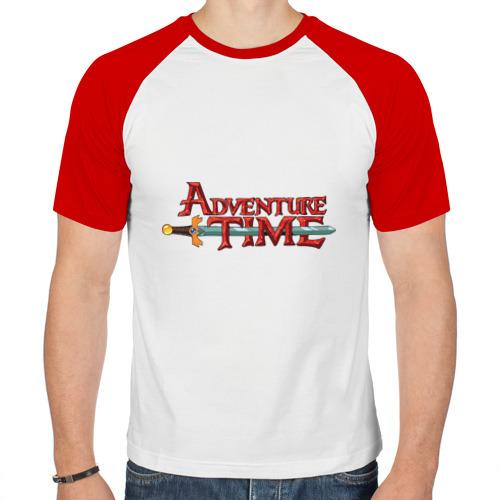 Мужская футболка реглан  Фото 01, Время приключений/Adventure time