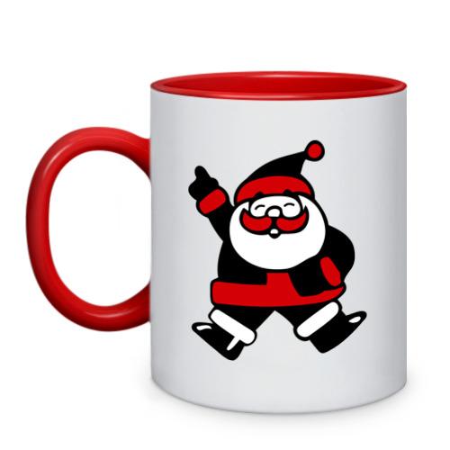 Кружка двухцветная Дед мороз от Всемайки