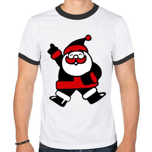 Мужская футболка рингер Дед мороз от Всемайки